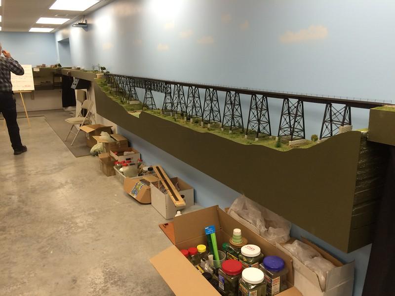 Layout 4 - HO scale - model of actual bridge near Ft. Dodge, Iowa