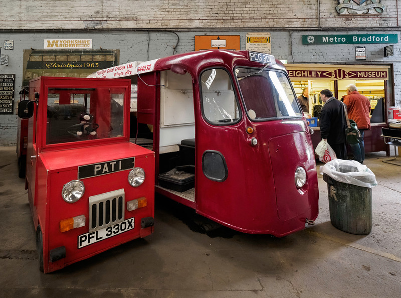 1981 Harbilt Eelectric Van and 1973 W & E Electric Milk Float
