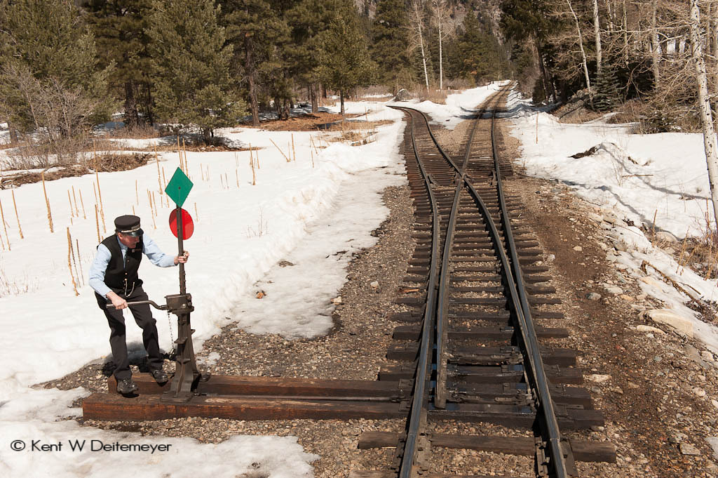 Closing the Switch at the Cascade Wye for the Return to Durango