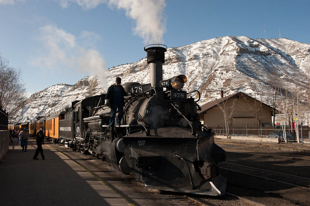 Preparing to Depart Durango, Colorado Depot