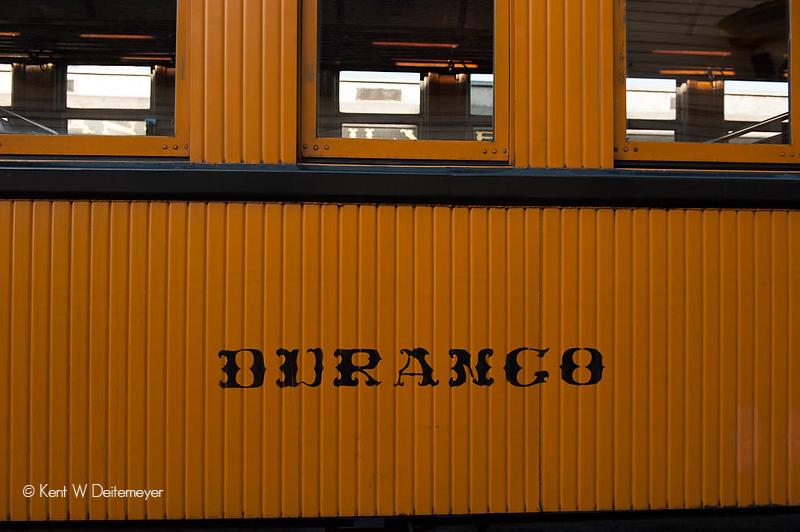 "The Passenger Coach, ""Durango""."