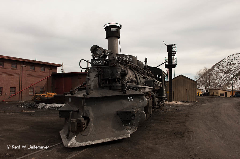 #478 back at the Durango Roundhouse for Servicing