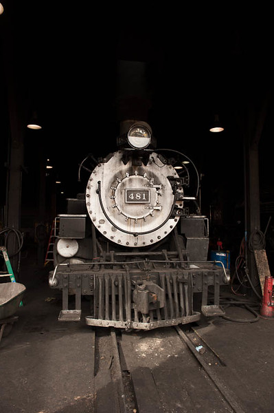 #481 in the Durango Roundhouse. Ready to go for tomorrow.
