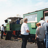 The temporary booking office at Asda Halt (Milton Regis) in September 93.