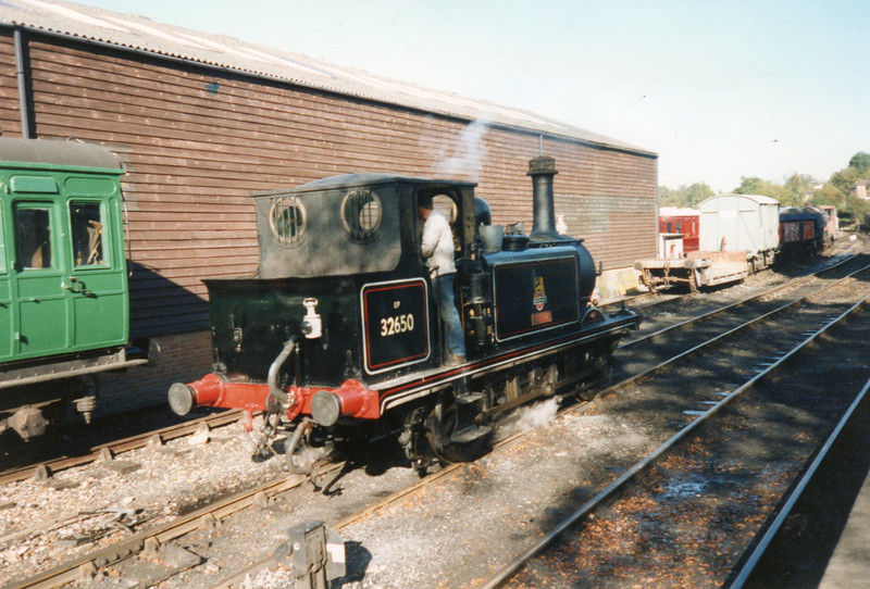 A1X 32650, the loco I caught on the Hayling Island branch 30 years previously, at Tenterden in October 93.