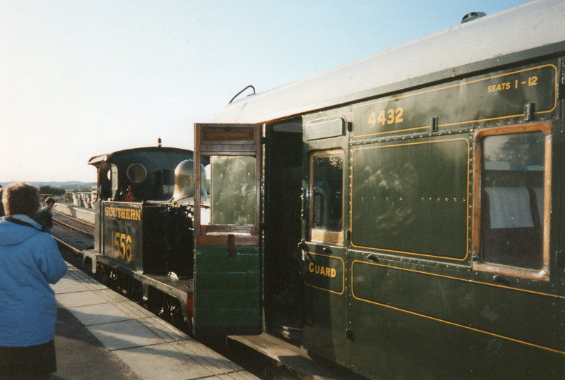 Ex SR Class P 0-6-0T (3)1556 at Northiam in October 93.