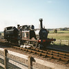 32650 (withdrawn at Eastleigh in November 63) and ex GWR 0-6-0PT 1638 (withdrawn at Croes Newydd in July 66) at Northiam in October 93.