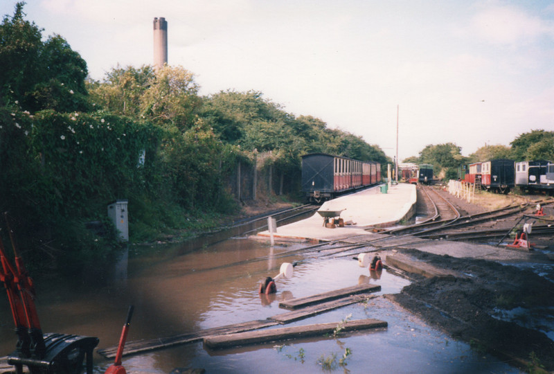 A burst water main at Kemsley Down in June 78.