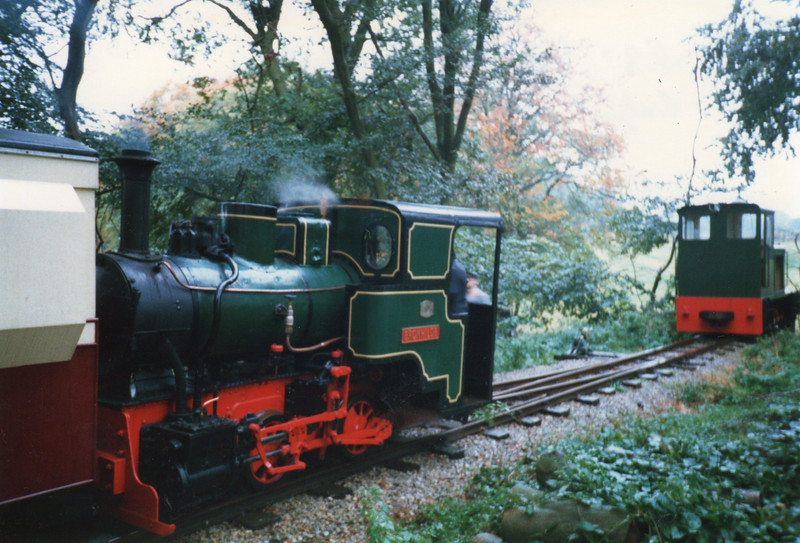 Brunhilde at the Bredgar & Wormshill Light Railway open day in October 87.