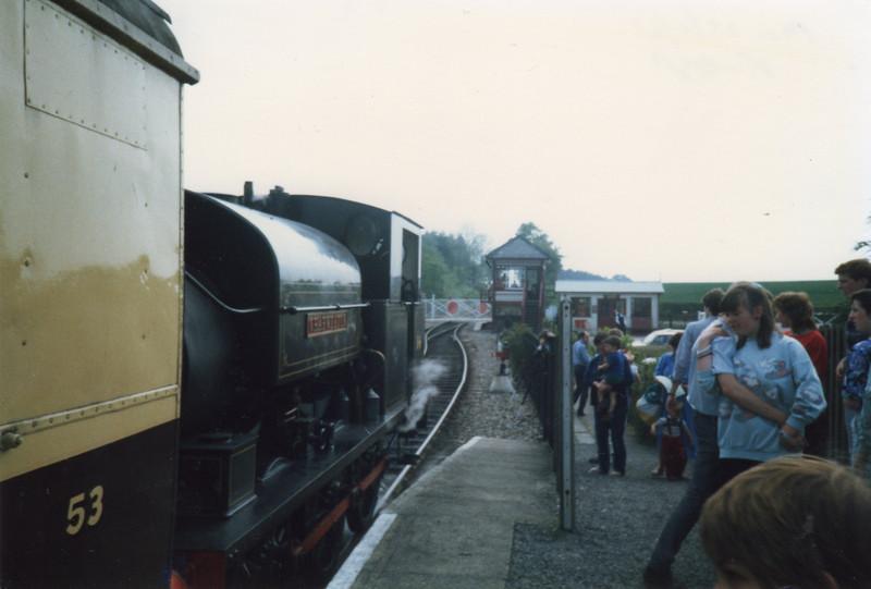 Charwelton awaiting departure at Hexham Bridge on 25/05/87.