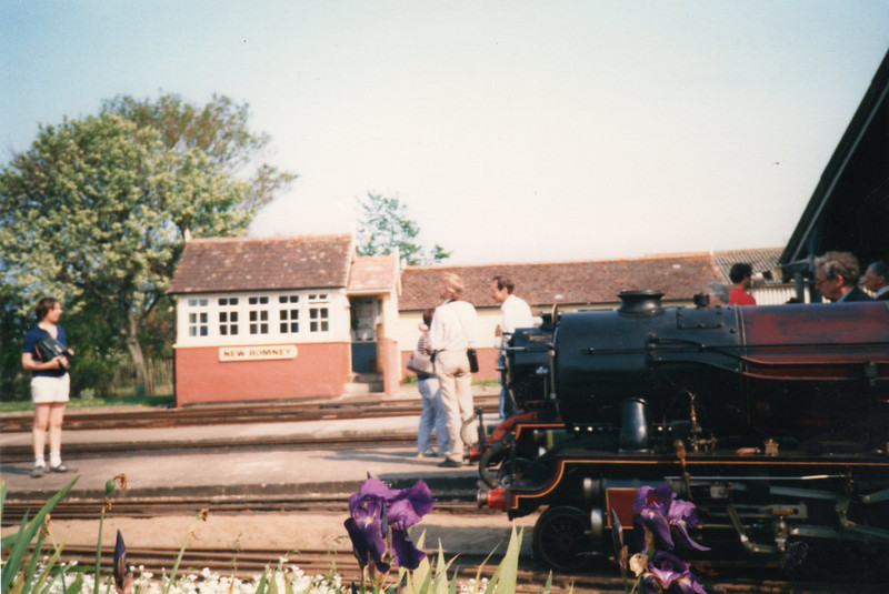 Hythe departures at New Romney on 15/05/88.