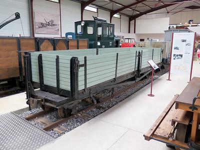 1916 Class D War Department open bogie wagon. Museum.