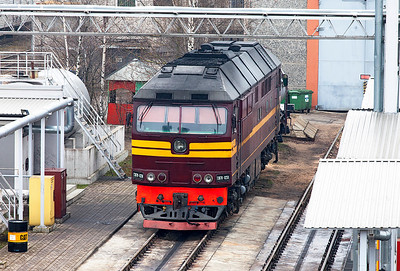 TEP70-0250 on the fuel racks at Riga Depot. Monday 7th April 2014.