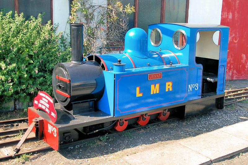 3 'Jenny' Moss  2-6-2DM - Lakeside Miniature Railway 18.07.13  Mick Tick
