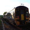 158757 departs from Burneside with the 19:59 Oxenholme to Windermere service 5/7/2001.