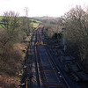During the Windermere Branch track relaying project in 2002 This view from Milepost Bridge looking towards Oxenholme as the track relaying progresses 10/3/2002.