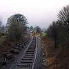 During the Windermere Branch track relaying project in 2002. This view from Milepost Bridge looking towards Kendal as the track relaying progresses 10/3/2002.