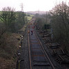 During the Windermere Branch track relaying project in 2002. This view from Milepost Bridge looking towards Oxenholme as the track relaying progresses 10/3/2002
