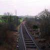 During the Windermere Branch track relaying project in 2002. This view from Milepost Bridge looking towards Oxenholme as the track relaying progresses 10/3/2002.