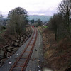 During the Windermere Branch track relaying project in 2002 This view from Milepost Bridge looking towards Kendal as the track relaying is nearing completion with ballasting now required 11/3/2002.