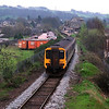 156461 approaches Kendal station with a Windermere to Oxenholme service April 1999.