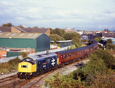 """40145 approaches Morecambe with the """"Buxton Forester"""" tour 15/9/07.  It was originally advertised to continue to Heysham, but unfortunatley this was not to be."""