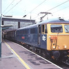 87002 Royal Sovereign stands in plat3 at Carlisle while the Buffet is tanked with the return leg of a Edinburgh-Watford Rail-Blue Charters tour, 10/9/2010.