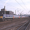 91130 propels the 18:05 Leeds-Kings Cross away from plat3 at Doncaster, 1/9/2010.