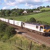 92008 Jules Verne approaches Oxenholme with the CNC intermodal, 19/7/2000.