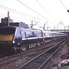 91106 thunders through Doncaster on the down fast with the 14:30 Kings Cross-Newcastle, 1/9/2010.