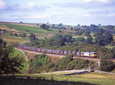 A Saturday afternoon on the S&C with 6 freight trains!  60028 heads a southbound gypsum train at Smardale 8/9/07