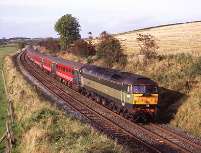47815 hauls a Compass tour bound for Manchester & Barrow at Staingills 11/10/08