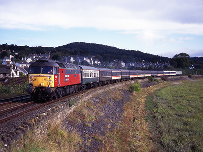 "47787 ""Victim Support"" passes Cart Lane with a Coventry-Workington charter on 12/9/98."