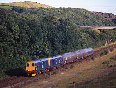 20305 + 20301 pass Park South with chemical tanks for Sellafield on 17/7/98.