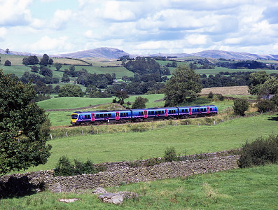185150 passes Bowston with a Windermere branch shuttle service 29/7/07