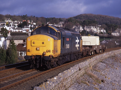 """37408 """"Loch Rannoch"""" passes Cart Lane with a flask from Valley on 7/2/98."""