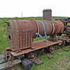 Boiler on 224 4w Long Flat  - Leadhills & Wanlockhead Railway