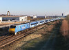 91125 passes Birtley whilst working 1N19 the 13.30hrs Kings Cross - Newcastle11/03/2014
