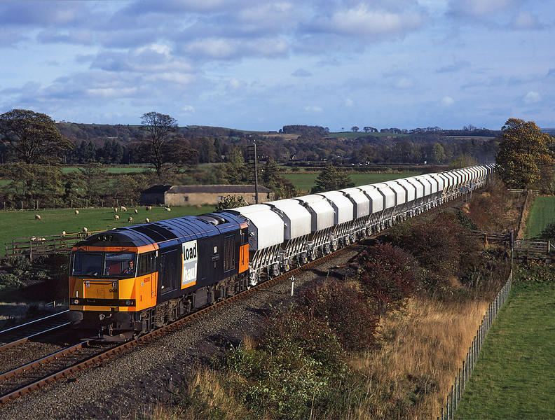 60008 passes Dilston with 6M46 Redcar to Hardendale <br /> 2/11/1996
