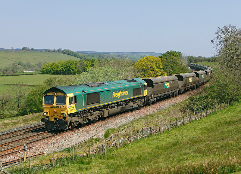 66554 on 4S31 the 09.44hrs Holgate Sidings - Hunterstone near Upper Denton	<br /> 23/05/2012