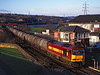 60026 passing Blaydon signal box on a Stanlow to Jarrow oil train<br /> 19/1/1998