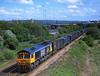 66705 passes the site of Gateshead metro centre with a diverted 4M91 West Burton to Newbiggin Gypsum train<br /> 18/5/2006