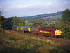 37057with 37116 on the rear seen working 6T95 the 08.50hrs Carlisle to Nunthorpe sandite train Nr Ryton<br /> 17-10-2001