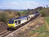 60056 Nr Nawath with a Jarrow to Stanlow empty oil train<br /> 28/4/1995