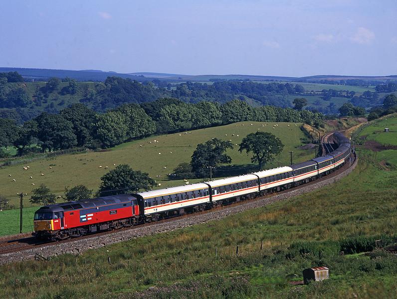 47750 passes Uper Denton on a Whitby to Carlisle Railtour<br /> 16/8/1997