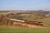 66015 + 66098 seen on 6K05 the 12.18hrs Carlisle yard - Basford hall enginers train near Armthwaite<br /> 02/02/2012