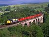 37140 crosses Smardale viaduct on 6M90 Gascoigne Wood - Carlisle BFL coal<br /> 30/5/1998
