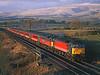 47845 + 47727 at Keld on 1M33 the diverted 14.10hrs Edinburgh to Birmingham New street<br /> 27/2/1999