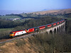 57301 crosses Smardale Viaduct on 1S63 the 10.05hrs Euston to Glasgow<br /> 23/3/2003
