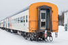 Coach 850 in Moosonee at end of special train for Little NHL hockey tournament.